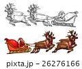 サンタ サンタクロース となかいのイラスト 26276166