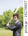 野球のバットを持つビジネスマン 26278837