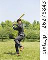 野球のバットを持つビジネスマン 26278843