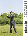 野球のバットを持つビジネスマン 26278845