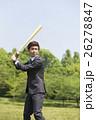 野球のバットを持つビジネスマン 26278847