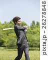 野球のバットを持つビジネスマン 26278848