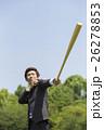 野球のバットを持つビジネスマン 26278853