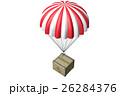 パラシュートで投下する荷物 3Dイラスト 26284376
