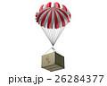 パラシュートで投下する荷物 3Dイラスト 26284377