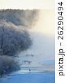 樹氷と霧と丹頂鶴 26290494