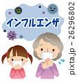 インフルエンザ予防 おばあちゃんと子供 26296802