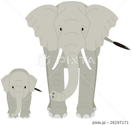 象の親子のイラスト素材 [26297171] , PIXTA