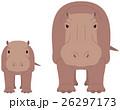 カバ 河馬 動物のイラスト 26297173