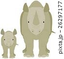 犀の親子 26297177