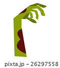 Zombie hand icon, flat style 26297558