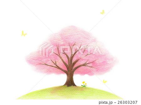 桜の木 背景なしのイラスト素材 26303207 Pixta