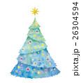 クリスマス クリスマスツリー イルミネーションのイラスト 26304594
