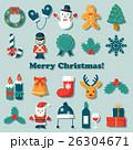 クリスマス アイコン ベクターのイラスト 26304671