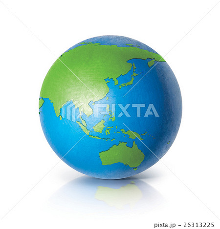 Color globe 3D illustration Asia & Australia mapのイラスト素材 [26313225] - PIXTA