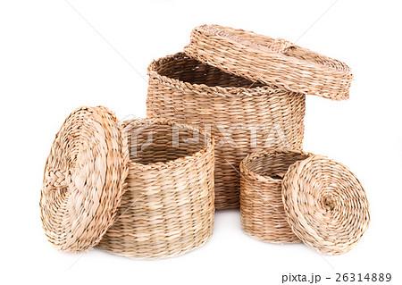 Wicker boxesの写真素材 [26314889] - PIXTA