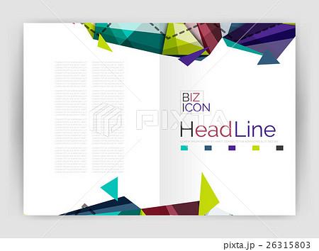 Unusual abstract corporate business brochureのイラスト素材 [26315803] - PIXTA
