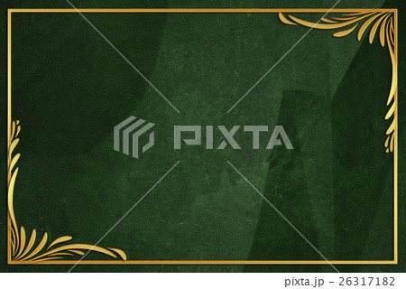 dark green wrinkled paper background with frameのイラスト素材 [26317182] - PIXTA