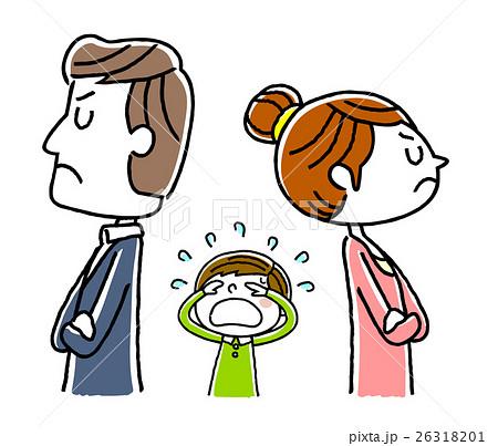 カップル、夫婦:不仲、離婚で子供が悲しむ 26318201