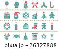 クリスマス アイコン ベクターのイラスト 26327888