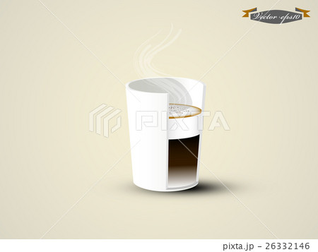 graphic design vector of cappuccino coffee cupのイラスト素材 [26332146] - PIXTA