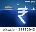 Indian Rupee symbol as iceberg in the ocean 26332943