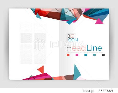 Geometric annual report business templateのイラスト素材 [26338891] - PIXTA