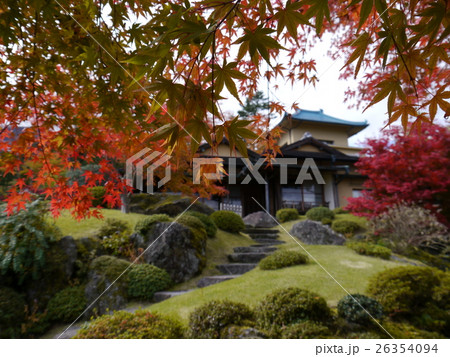 箱根の紅葉(箱根美術館) 26354094
