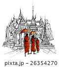 Thailand, monks in a temple 26354270