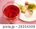 赤ワインとオードブル 26354309