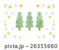 雪と星のもみの木 26355660