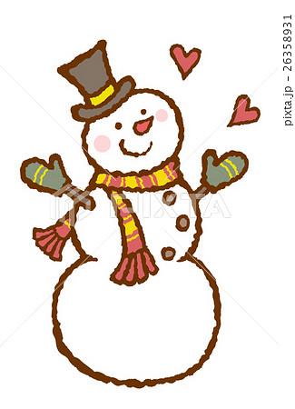 雪だるまのイラスト素材 26358931 Pixta