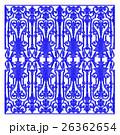 青 花柄 要素の写真 26362654