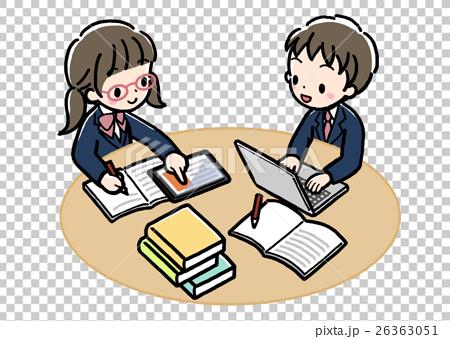 Digital _ study study _ two people _ uniform 26363051