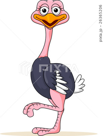 Funny ostrich cartoon 26365206