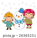 雪だるまと女の子 26365251