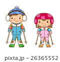 スキーをする子供 26365552