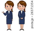 案内 女性 スーツのイラスト 26371354
