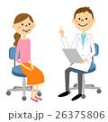 医者 患者 診察のイラスト 26375806