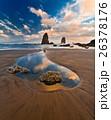 Sunset on Cannon Beach, Oregon 26378176