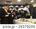 葬式 家族葬 別れ花の写真 26379200