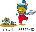 花に水やりをする猪 26379462