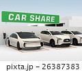 カーシェアリング専用駐車場のイメージ。 26387383
