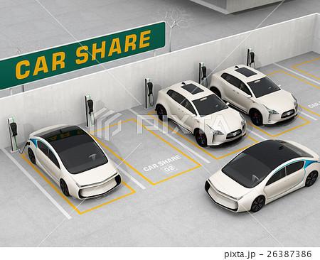 カーシェアリング専用駐車場のイメージ。 26387386