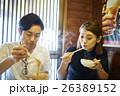 食事をするカップル 名古屋めし 味噌煮込みうどん 26389152