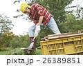 田舎暮らし のこぎりで作業する男性 26389851