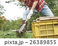 田舎暮らし のこぎりで作業する男性 26389855