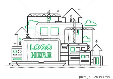 Programming Tools - line design illustration withのイラスト素材 [26394799] - PIXTA