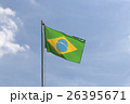 National flag of Brazil on a flagpole 26395671