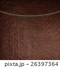 Texture of brown leather background with stitched 26397364